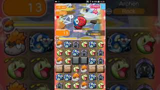 Pokemon Shuffle Mobile UX Stage 452 Archen ITEMLESS『ポケとる スマホ版』