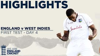 A late flurry of wickets for the visitors set up a very exciting fifth and final day at Southampton, in the 1st Test between England and West Indies.  Find out more at ecb.co.uk  This is the official channel of the ECB. Watch all the latest videos from the England Cricket Team and England and Wales Cricket Board. Including highlights, interviews, features getting you closer to the England team and county players.  Subscribe for more: http://www.youtube.com/subscription_center?add_user=ecbcricket  Featuring video from the England cricket team, Vitality Blast, Specsavers County Championship, Royal London One-Day Cup and more.
