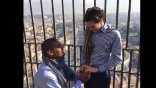 'He said yes!': Michael Sam reveals he proposed to longtime boyfriend from atop Catholic church