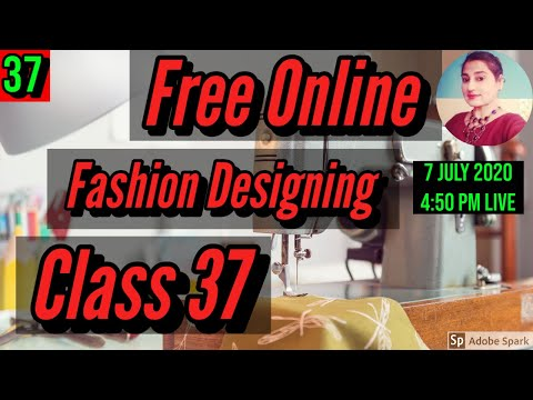 Free Fashion Designing Online Courses With Certificate Class 37 ...