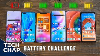 OnePlus 8 Pro vs S20 Ultra vs P40 Pro vs iPhone 11 Pro Max vs Pixel 4 XL BATTERY Test!