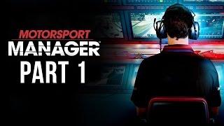 Motorsport Manager Gameplay Walkthrough Part 1 - FIRST RACE (Career Mode)