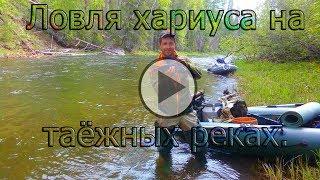 Ловля крупного хариуса на горных реках
