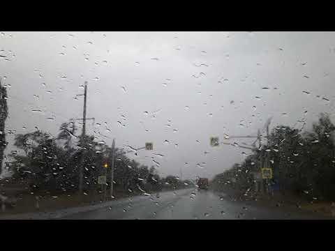 Попали в жуткий ливень по дороге. Долгожданный дождь после 40°жары.Влог.