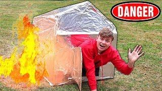 METAL BOX FORT!! (FIREPROOF) 🔥📦
