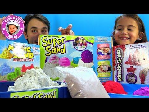 Der ultimative Spielsand Test - Kinetic Sand vs. Super Sand vs. Magic Sand