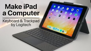 Logitech Trackpad and Keyboard for iPad - Unboxing and Review