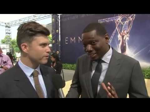 "Michael Che says ""there's going to be political jokes"" when he and fellow ""Saturday Night Live"" head writer Colin Jost host the Emmy Awards on Monday. (Sept. 13)"
