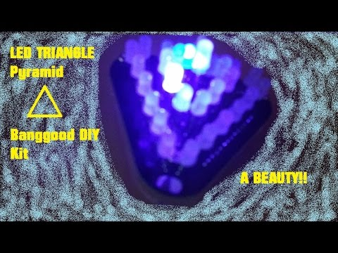 Banggood RGB LED triangle Build+Overview