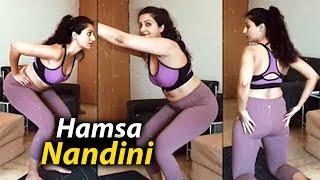 Hamsa Nandini SUPER H0T Yoga Video Hamsa Nandini Latest Workout Video