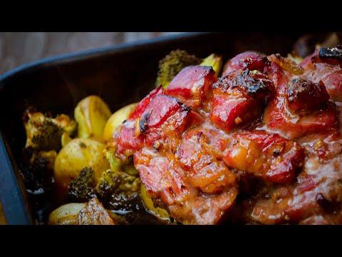 Запеченная свинина в соево-медовом маринаде. СЫТНО!