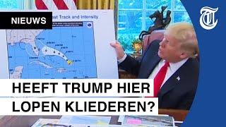 Internet gaat los: tekende Trump op weerkaart?