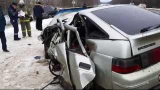В ДТП на автодороге Тула-Новомосковск погибли два человека. 02.01.2015
