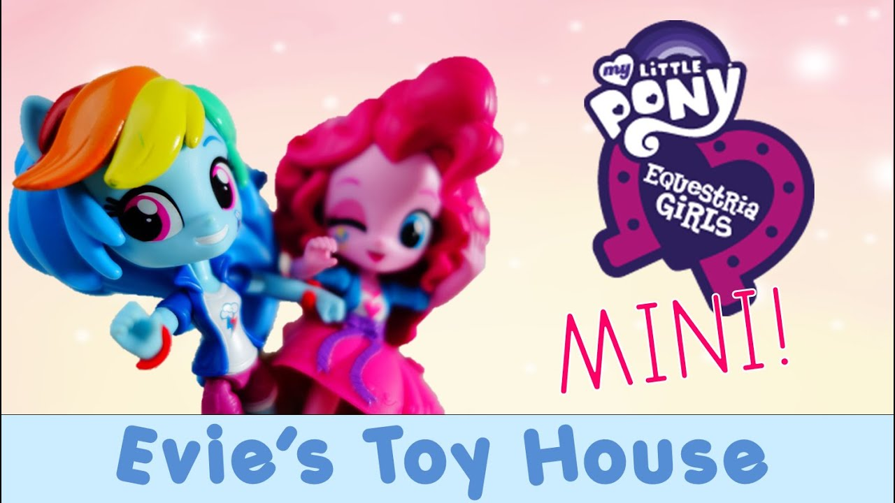 MLP Equestria Girl Minis Unboxing - Rainbow Dash and Pinkie Pie Doll Review | Evies Toy House