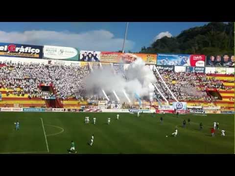 """""""Entrada Alianza FC"""" Barra: La Ultra Blanca y Barra Brava 96 • Club: Alianza"""