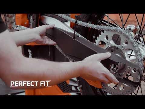 Vorschau: Bremsscheibenschutz mit Gabelprotektor unten für Husqvarna / KTM / Sherco Baujahre: 2015-2021