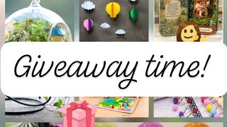 Terrarium & Crafts | Two Monthly Giveaways!