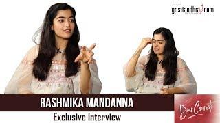 Special Chit Chat With Rashmika Mandanna | Vijay Devarakonda | Dear Comrade | Greatandhra