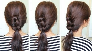 2 Min Knotted Ponytail Hairstyle | Hair Tutorial