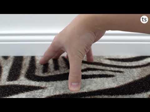 HEVO Noah Zebra Teppichboden mit Powerback in 400 cm Breite - Teppichscheune.de