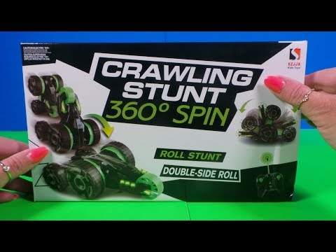 Unboxing & Let's Play -  RC STUNT CAR. Full review and unboxing test