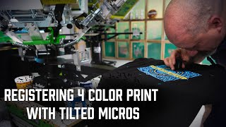 How To Register A 4 Color Print Using Tilted Micros | Riley Hopkins 250