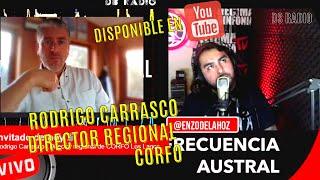 #FrecuenciaAustral 🔊 ❌ #RDS entrevistando esta vez al Director regional de CORFO Rodrigo Carrasco.