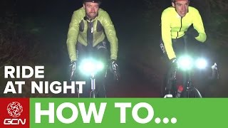 Fall night riding- see and be seen