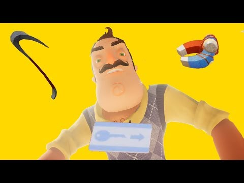 Showing you guys how to get the keycard in Hello Neighbor Mobile Act