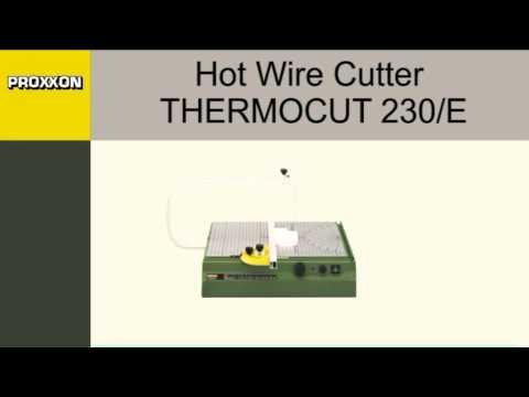 Dispositivo de corte en caliente de alambre Thermocut 230/E Proxxon