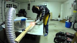 Cutting 316 Stainless Steel for HHO Generator with Angle Grinder