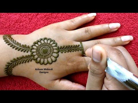 Rakhi 2019 Special Easy Stylish Beautiful Jewellry Mehndi Design for Hand || Arham Mehndi Designs