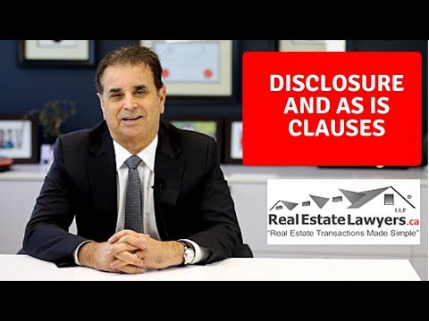 Disclosure and As Is Clauses