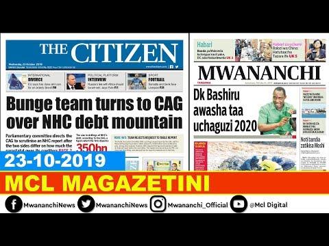 MCL MAGAZETINI, OKTOBA 23, 2019: DK BASHIRU AWASHA TAA UCHAGUZI 2020