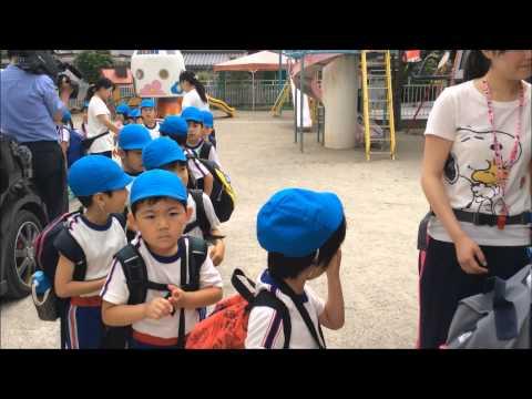 ともべ幼稚園 「お泊り保育 出発」