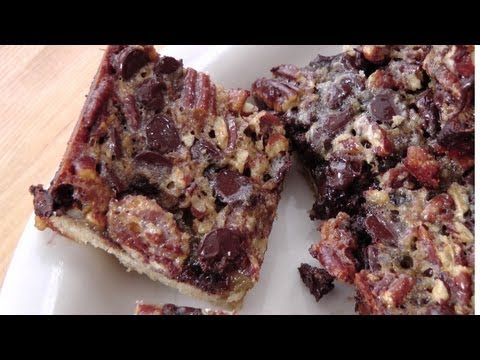 Chocolate Pecan Bars – Recipe by Laura Vitale – Laura in the Kitchen Ep 169