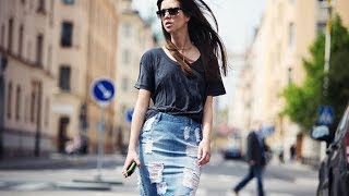 Jean Skirts Outfits 2017
