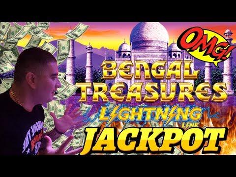 Lightning Link Slot Machine BIG HANDPAY JACKPOT | Lightning Link Bengal Treasures & Happy Lantern