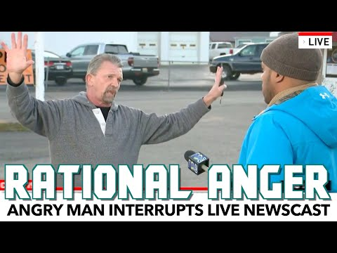 Angry Man Interrupts Live Newscast With A Surprisingly Rational Point