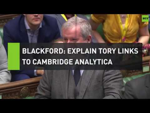 Blackford urges May to investigate Tory links to Cambridge Analytica