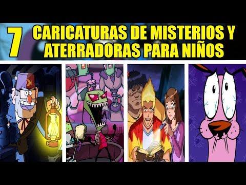 7 CARICATURAS DE MISTERIOS Y ATERRADORAS PARA NIÑOS