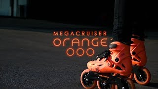 Megacruiser ORANGE & Pablo Soler - Powerslide Imperial Megacruiser 125 Orange Urban Inline Skates