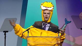 Jacksfilms wins YouTuber of the Year    Shorty Awards 2018