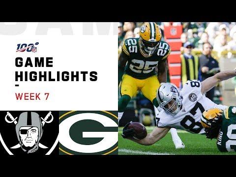 Raiders vs. Packers Week 7 Highlights | NFL 2019