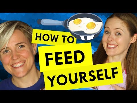 How to Get Comfortable in the Kitchen ft Hannah Hart!