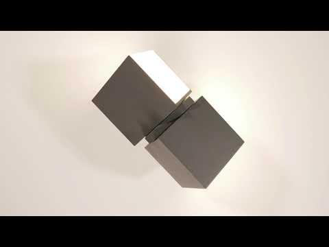 Lutec Cuba Drehbare LED-Außenwandleuchte IP54 Anthrazit
