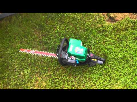 Weedeater hedge trimmer review after first use.