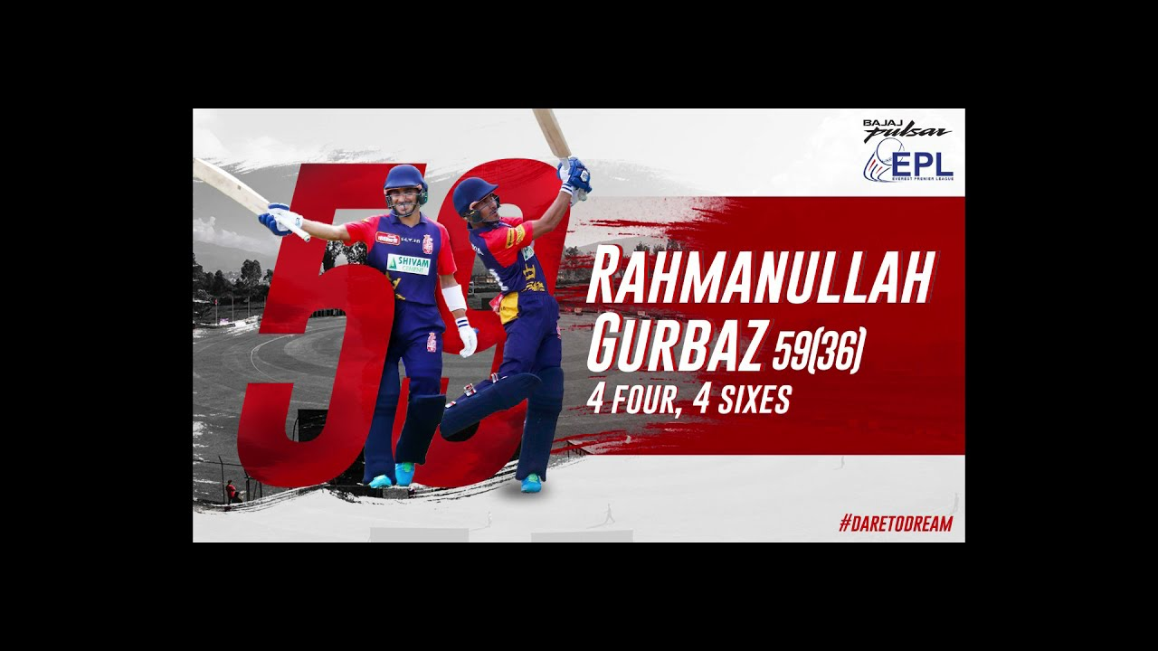 Rahmanullah Gurbaz's 59(36) vs Patriots.