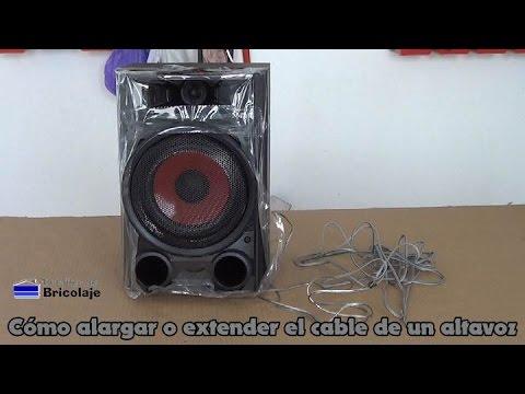 Cómo alargar o extender el cable de un altavoz