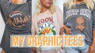MY OVERSIZED GRAPHIC T-SHIRT COLLECTION | Tees Try-On (Urban Outfitters, Project Social T + More)